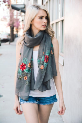 gray-spring-summer-lightweight-floral-accent-embroidered-scarf-cute
