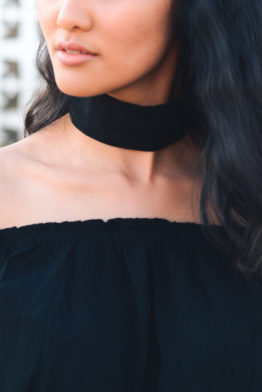 wide velvet choker black